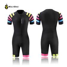 Triathlon Tri Suit Women Short Sleeve Cycling Skinsuit Ladies Ironman Clothing