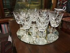 10 Waterford Ashling Crystal White Wine glasses