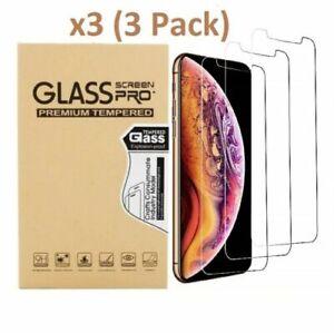 iPhone 6/7/8/XR/X/XSmax/11/11Pro/11 Pro Max 12Mini/Pro/Max Tempered Glass 3Pack