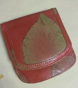The Original Alicia Klein Taxi Wallet Red Leaf Pattern