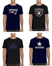 T Shirt Mens  Logo NFL American Football oakland new england patriots cowboys