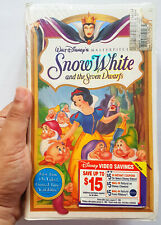 SEALED 1937 Snow White and Seven Dwarfs ANIMATED MOVIE (VHS, 1994, Masterpiece)