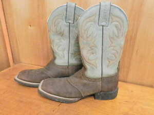 "Justin Men/'s Boot~ROLLIKER~12/"" Dark Brown//Dusty Blue~2520~ Was $170 Now $140"