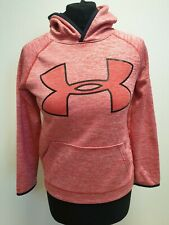 M787 BOYS UNDER ARMOUR RED COTTON PULLOVER TRACKSUIT HOODIE AGE 11-12 YEARS