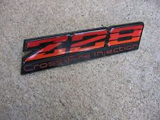 87 88 89 90 91 92 CAMARO Z/28 CROSS-FIRE INJECTION INTERIOR DASH EMBLEM RED TRI