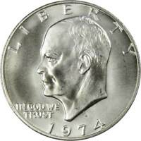 1974 S Eisenhower Dollar BU Uncirculated Mint State 40% Silver IKE $1 Coin