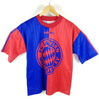 Vintage Adidas FC Bayern München Trikot T-Shirt Herren M Blau Rot Retro