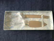 Two-Piece Wedding Knife and Server Set - Acrylic/Stainless Steel - Never Used
