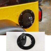 Locking Fuel Tank Cover Door Gas Lid Filler Cap For Jeep Wrangler TJ 1997-2006