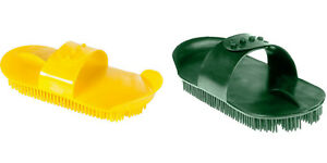 SHIRES LARGE PLASTIC CURRY COMB HORSE COAT HAIR GROOMING ADJUSTABLE HANDLE STRAP