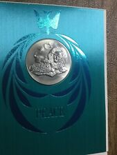 1969 Franklin Mint Peace Card And Medal