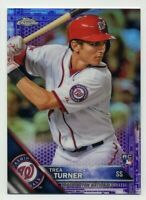 2016 Topps Chrome TREA TURNER Rookie Card RC PURPLE REFRACTOR #/275 Nationals 32