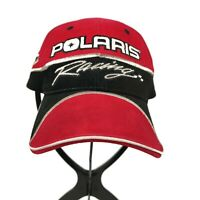Pure Polaris Racing Watercraft Motorcycle Red Strapback One Size Mens Hat Cap