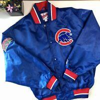 Vintage Starter Chicago Cubs Satin Jacket Men's Size M MLB Baseball 90s USA