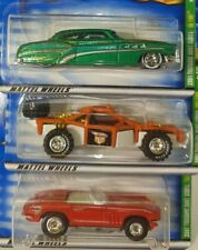Hot Wheels 2001 Treasure Hunt LOT #1,2,3 Vette ,Roll Cage, So Fine MOC