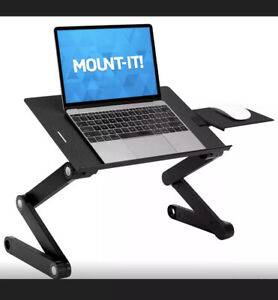 Mount It Black MI-7211A Cooling, Tiltable Laptop Table Fasy Free Shipping