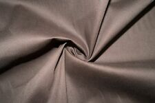 Chocolate Poplin #7 Cotton Lycra Spandex Stretch Woven Apparel Fabric BTY