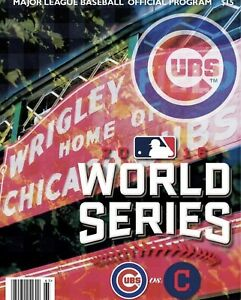 Chicago Cubs vs Cleveland Indians 2016 World Series MLB Official Program