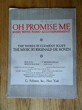 Oh Promise Me Reginal De Koven Wedding Piano Vocal Sheet Music 1917 Medium