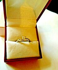 Vintage Orange Blossom 18K White Gold Diamond Solitaire Wedding Rings Set ~5.5~