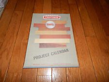 Vintage 1965 Craftsman Project Calendar