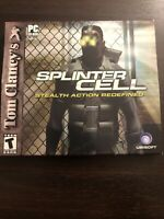 Tom Clancy's Splinter Cell  Stealth Action Redefined PC CD-ROM 2002
