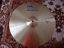 "Paiste 20"" Formula 602 Original Blue Label Heavy Cymbal - new old stock"