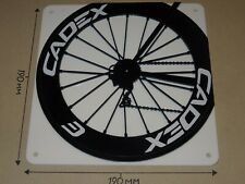 CADEX Cycling Wheel, CADEX rear wheel design - Acrylic Sign: 190x190mm