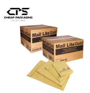 CPS Genuine Mail Lite Gold Bubble Padded Envelopes - 50s Pack