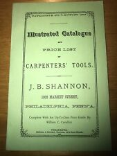 Carpenters' Tools Catalogue 1873 REPRINT Illustrated Hunter Pilkington