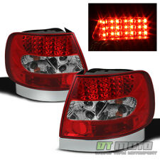 1996-2001 Audi A4 S4 Red Smoked Lumileds LED Tail Lights Brake Lamps Left+Right