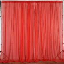lovemyfabric Sheer Chiffon/Georgette Stage Backdrop, Drape, Curtain Window Decor