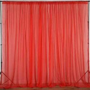 lovemyfabric Sheer Chiffon/Georgette Stage Backdrop, Drape, Curtain Window Décor