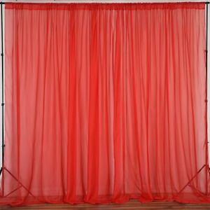 lovemyfabric Sheer Chiffon/Georgette Stage Backdrop, Drape, Curtain Window Décor