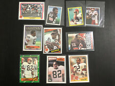 (10) OZZIE NEWSOME - Different Card Lot - 1980 to 1988 -- BROWNS -- NFL HOFer