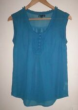 "Gap Ladies Sheer Sleeveless Blouse Top Size XS (32-33"" Bust) New No Tags"