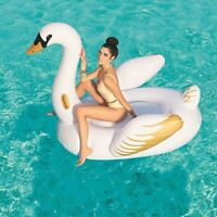 Bestway Inflatable Luxury Swan Ride On Swimming Pool Beach Toy Float Rider Lilo