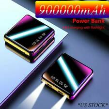 900000mAh Dual USB LCD LED Portable Power Bank External Backup Fast Charging US