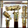 Walking Cane Walking Stick Folding Telescope wooden Walking Stick Made of Brass