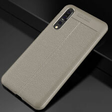 For Huawei P20 Pro Lite Shockproof Leather Slim Rubber TPU Bumper Case Cover