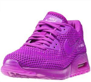 Original Womens Nike  Air Max 90 Ultra BR Trainers Hyper Violet  725601 500
