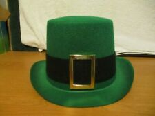 Green Leprechaun Top Hat with Buckle St Patrick's Day Irish Lucky Adult