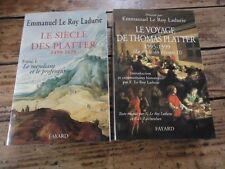 SIECLE DES PLATTER MENDIANT PREOFESSEUR T 1 & 2  LADURIE ANCIEN REGIME IMPRIMEUR