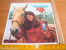"""RC Cola 1970's Me and My RC advertising cardstock card 11x11.5"""" horse"""