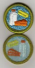 Dairying Merit Badge, Type H, Blue Back Version (1972 - 1975), Mint!