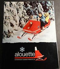 RARE VINTAGE 1969 ALOUETTE SNOWMOBILE SALES BROCHURE 4 PAGES  (812)