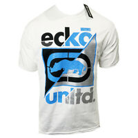 ECKO UNLTD. LOGO AUTHENTIC MEN'S CREW NECK SHORT SLEEVE WHITE T-SHIRT SIZE L XL