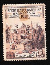 VINTAGE CINDERELLA Harlem Sport Expo 1910 Netherlands Old HingeTape Remnant G