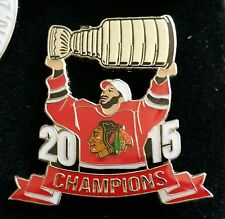 NHL CHICAGO BLACKHAWKS 2015 STANLEY CUP CHAMPS PLAYER Lapel Pin