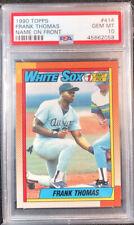 1990 Topps Frank Thomas RC Chicago White Sox #414 Baseball Card Graded PSA 10!!!